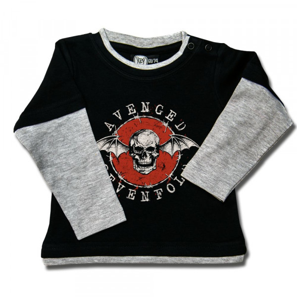 Avenged Sevenfold (New Deathbat) Baby Skater Shirt mit Aufdruck in multicolor auf Metal-Kids Markenware