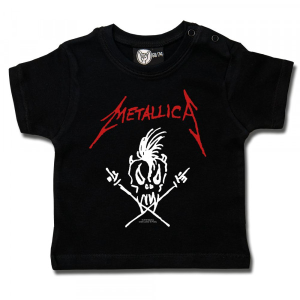 Metallica (Scary Guy) Baby T-Shirt mit Aufdruck in rot/weiß auf Metal-Kids Markenware