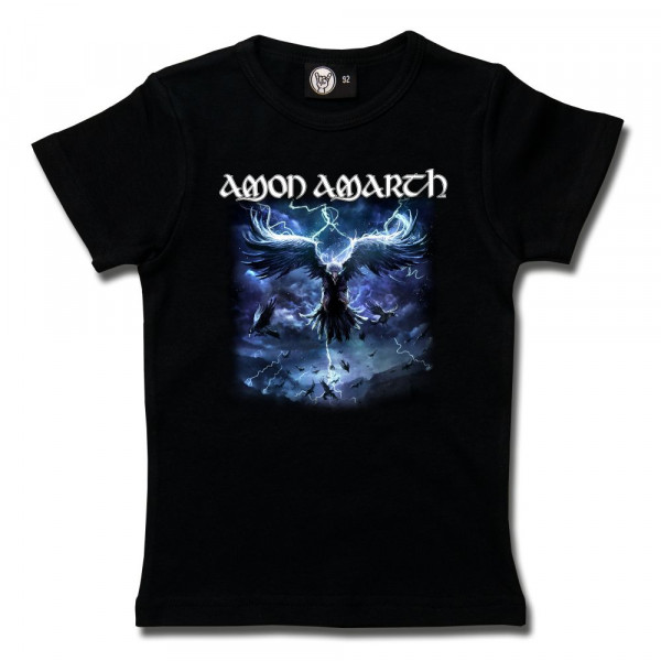 Amon Amarth (Raven's Flight) Girly Shirt mit Aufdruck in multicolor auf Metal-Kids Markenware