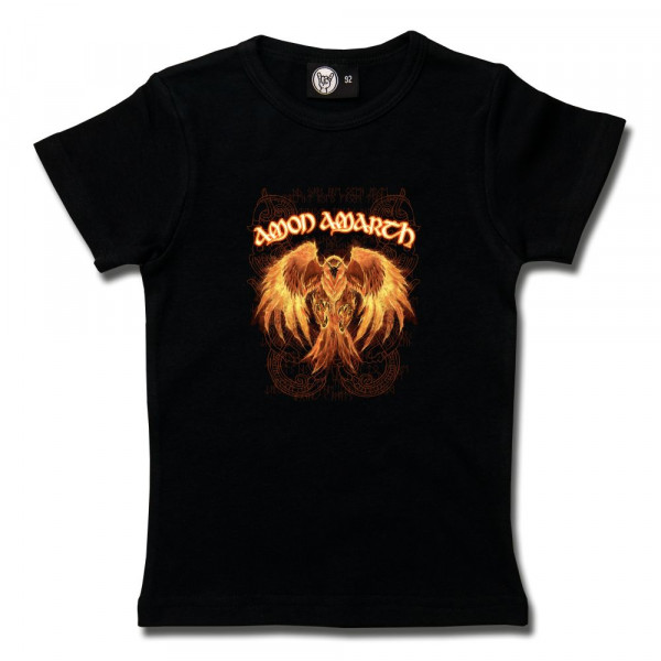 Amon Amarth (Burning Eagle) Girly Shirt mit Aufdruck in multicolor auf Metal-Kids Markenware