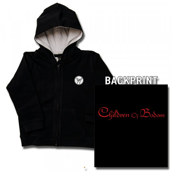 Children of Bodom (Logo) Kids Kapuzenjacke mit Aufdruck in rot auf Metal-Kids Markenware