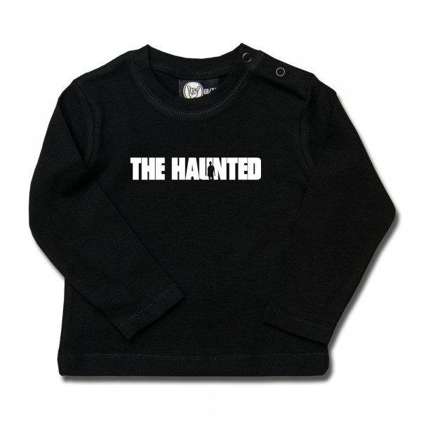 The Haunted (Logo) Baby Longsleeve mit Aufdruck in weiß auf Metal-Kids Markenware