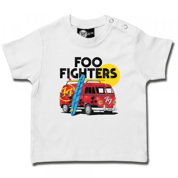 Foo Fighters (Van) Baby T-Shirt mit Aufdruck in multicolor auf Metal-Kids Markenware