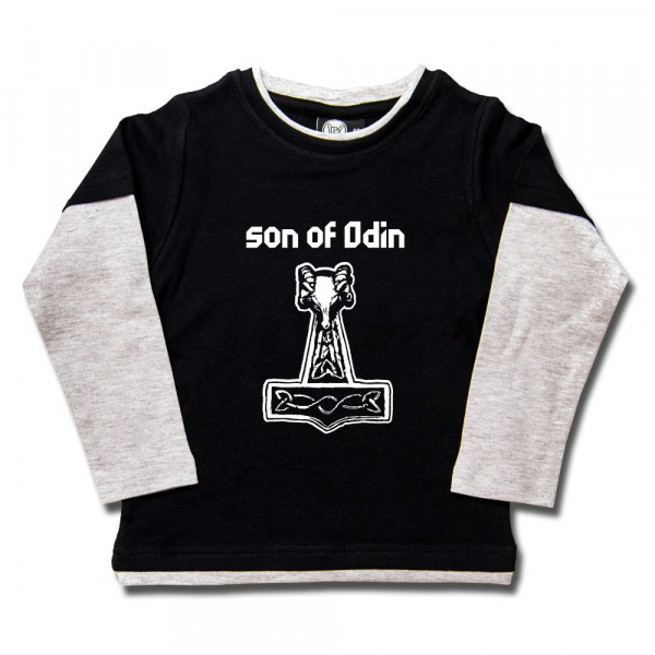 son of Odin Kids Skater Shirt mit Aufdruck in weiß auf Metal-Kids Markenware