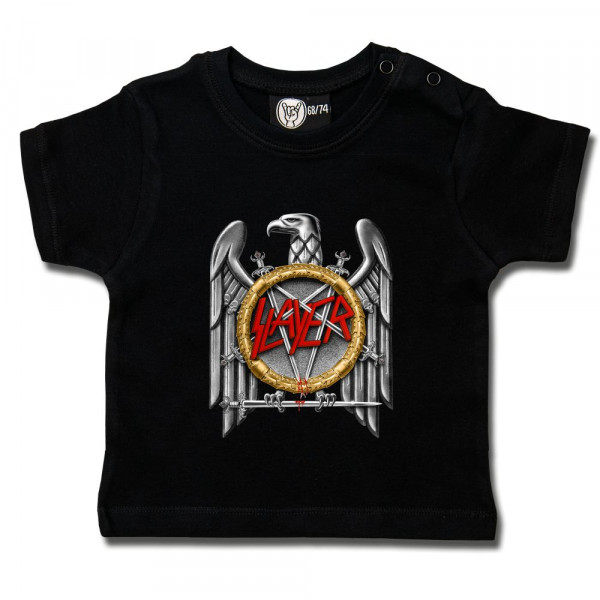Slayer (Silver Eagle) Baby T-Shirt mit Aufdruck in multicolor auf Metal-Kids Markenware