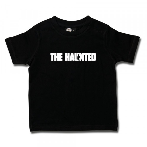 The Haunted (Logo) Kids T-Shirt mit Aufdruck in weiß auf Metal-Kids Markenware