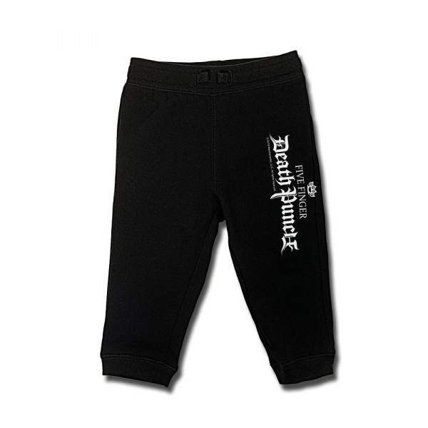 Five Finger Death Punch (Logo) Baby Jogginghose mit Aufdruck in weiß auf Metal-Kids Markenware