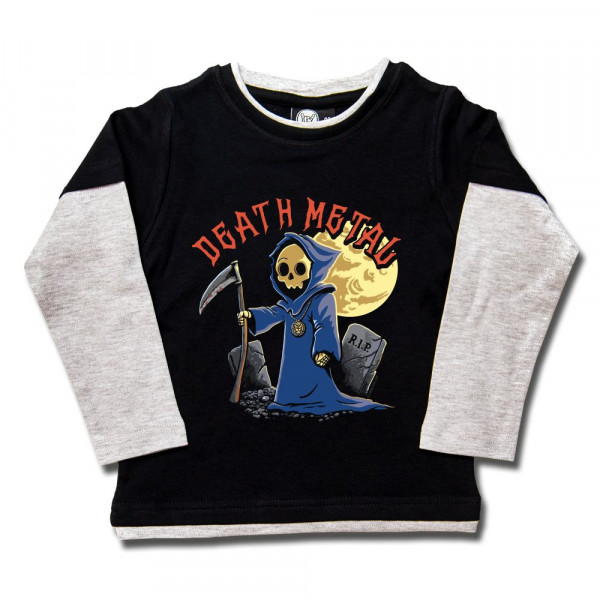 Death Metal Kids Skater Shirt mit Aufdruck in multicolor auf Metal-Kids Markenware