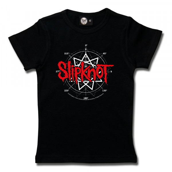 Slipknot (Star Symbol) Girly Shirt mit Aufdruck in rot/weiß auf Metal-Kids Markenware