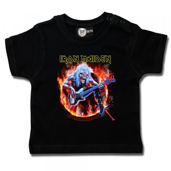 Iron Maiden (Fear Live Flame) Baby T-Shirt mit Aufdruck in multicolor auf Metal-Kids Markenware