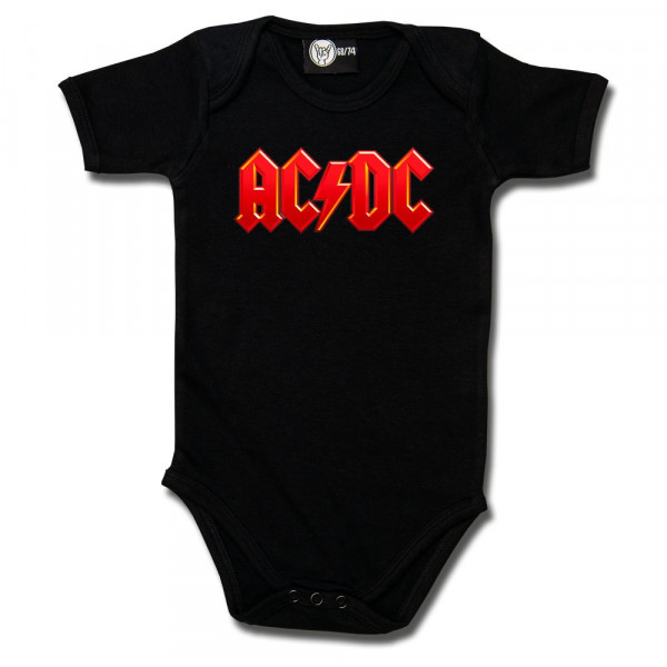 AC/DC (Logo, multi-col.) Baby Body mit Aufdruck in multicolor auf Metal-Kids Markenware