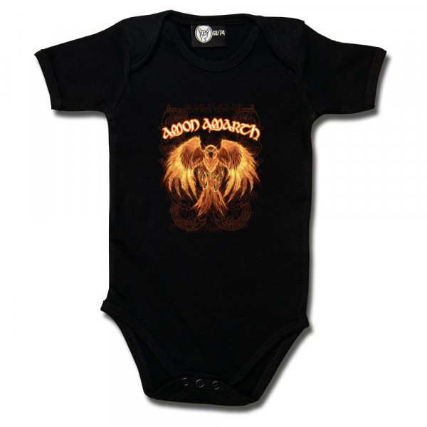 Amon Amarth (Burning Eagle) Baby Body mit Aufdruck in multicolor auf Metal-Kids Markenware