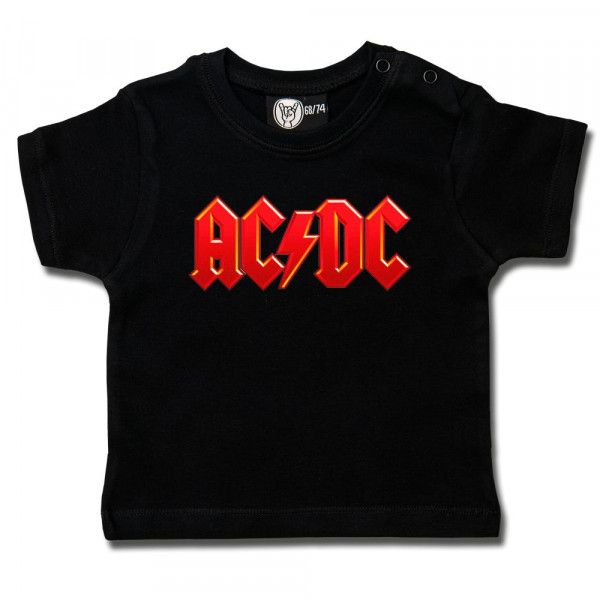 AC/DC (Logo, multi-col.) Baby T-Shirt mit Aufdruck in multicolor auf Metal-Kids Markenware