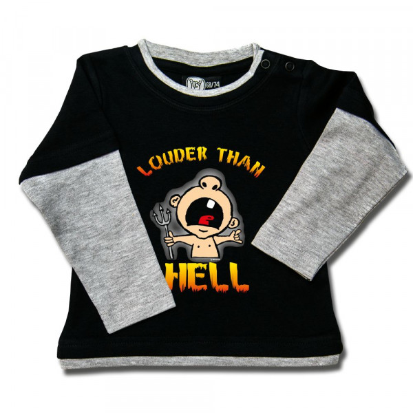 louder than hell Baby Skater Shirt mit Aufdruck in multicolor auf Metal-Kids Markenware