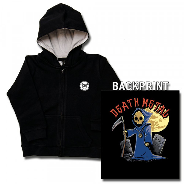 Death Metal Baby Kapuzenjacke mit Aufdruck in multicolor auf Metal-Kids Markenware