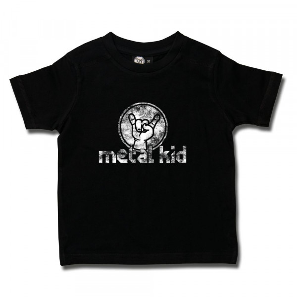 metal kid (Vintage) Kids T-Shirt mit Aufdruck in weiß auf Metal-Kids Markenware