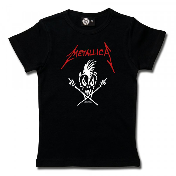 Metallica (Scary Guy) Girly Shirt mit Aufdruck in rot/weiß auf Metal-Kids Markenware