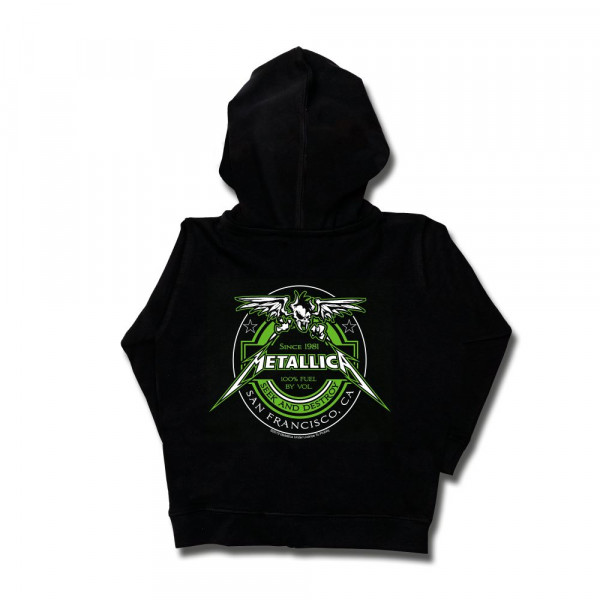 Metallica (Fuel) Kids Kapuzenjacke mit Aufdruck in multicolor auf Metal-Kids Markenware