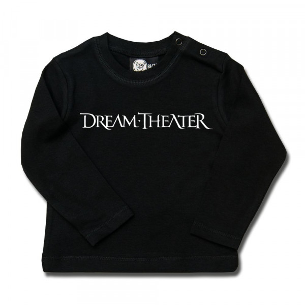 Dream Theater (Logo) Baby Longsleeve mit Aufdruck in weiß auf Metal-Kids Markenware
