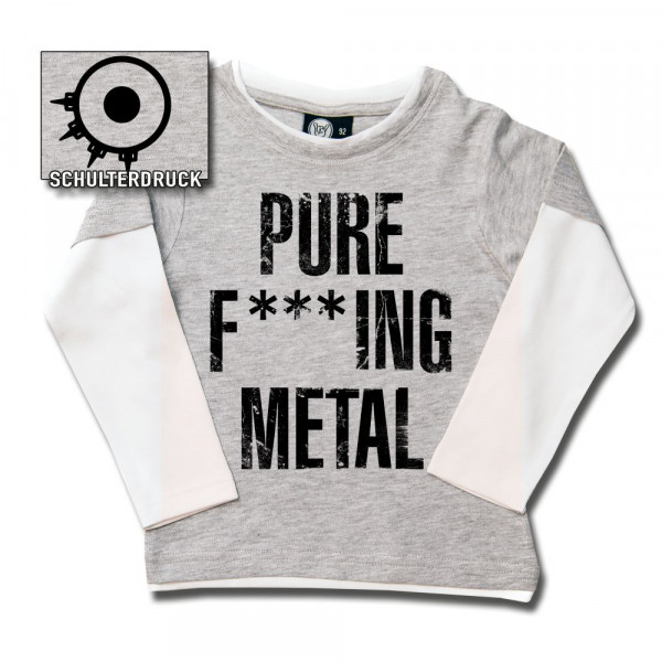 Arch Enemy (Pure F***ing Metal) Kids Skater Shirt mit Aufdruck in schwarz auf Metal-Kids Markenware