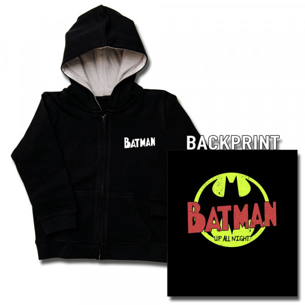 Batman (Up All Night) Kids Kapuzenjacke mit Aufdruck in multicolor auf Kids-Fanshop Markenware
