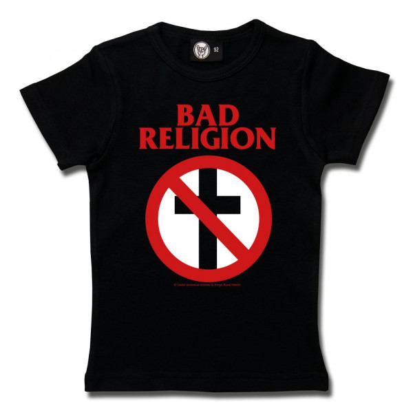 Bad Religion (Cross Buster) Girly Shirt mit Aufdruck in rot/weiß auf Metal-Kids Markenware