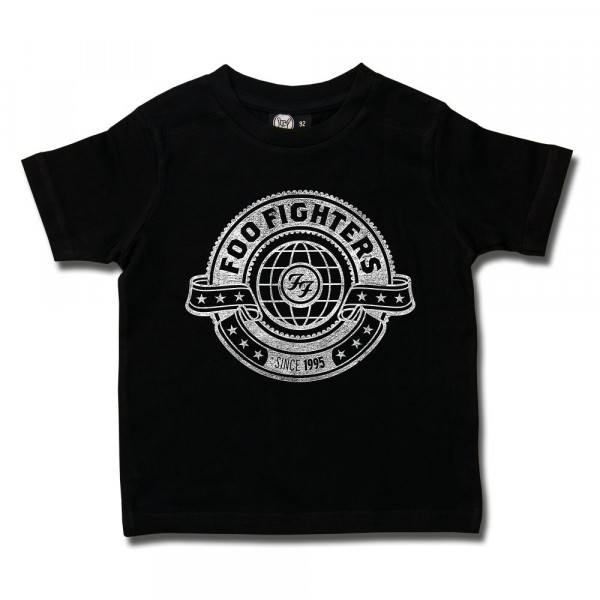 Foo Fighters (World) Kids T-Shirt mit Aufdruck in weiß auf Metal-Kids Markenware