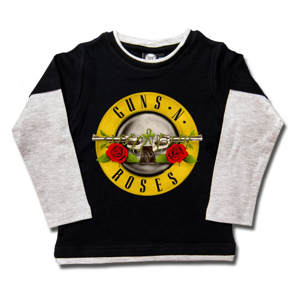 Guns 'n Roses (Bullet') Kids Skater Shirt mit Aufdruck in multicolor auf Metal-Kids Markenware