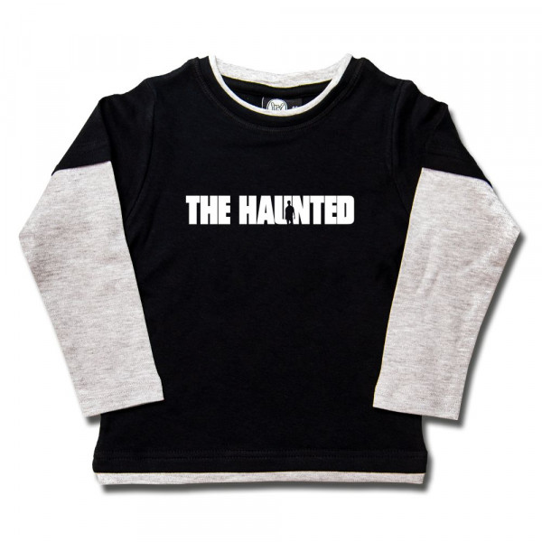 The Haunted (Logo) Kids Skater Shirt mit Aufdruck in weiß auf Metal-Kids Markenware
