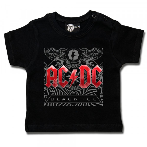 AC/DC (Black Ice) Baby T-Shirt mit Aufdruck in multicolor auf Metal-Kids Markenware