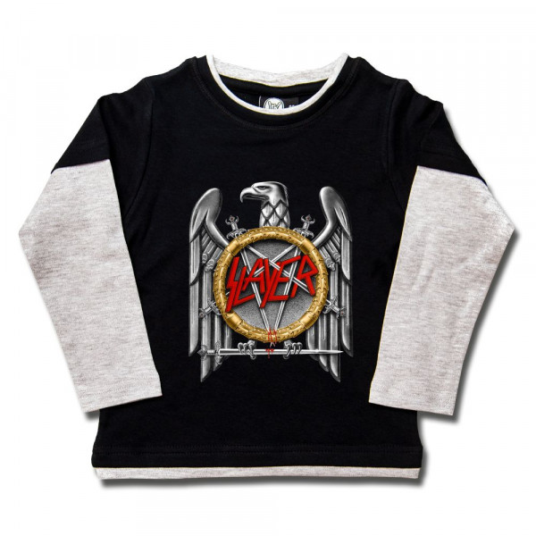 Slayer (Silver Eagle) Kids Skater Shirt mit Aufdruck in multicolor auf Metal-Kids Markenware