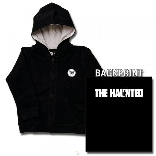 The Haunted (Logo) Kids Kapuzenjacke mit Aufdruck in weiß auf Metal-Kids Markenware