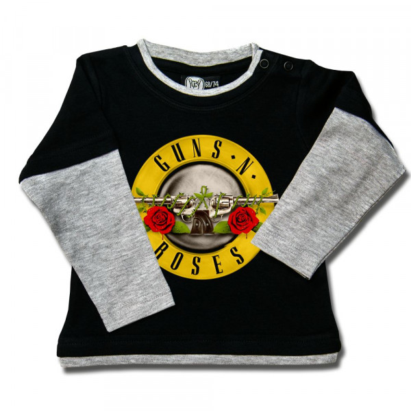 Guns 'n Roses (Bullet') Baby Skater Shirt mit Aufdruck in multicolor auf Metal-Kids Markenware